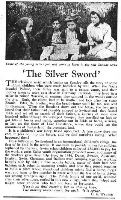Image result for silver sword text